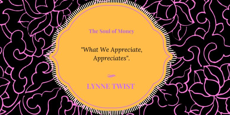Appreciate Lynne Twist
